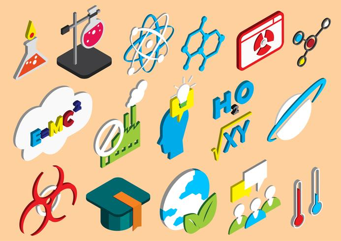 illustration of info graphic science icons set concept