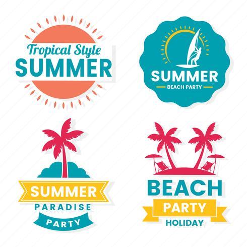Summer Retro Vector Logo for banner