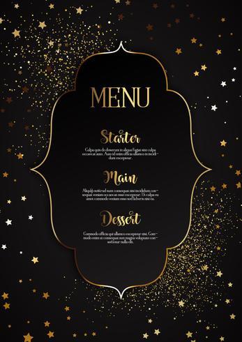 Diseño elegante menú