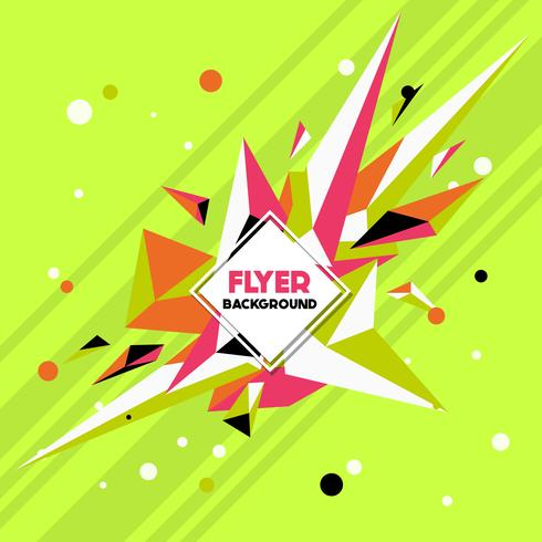 Modelo de Design de fundo de estilo Low Poly Flyer