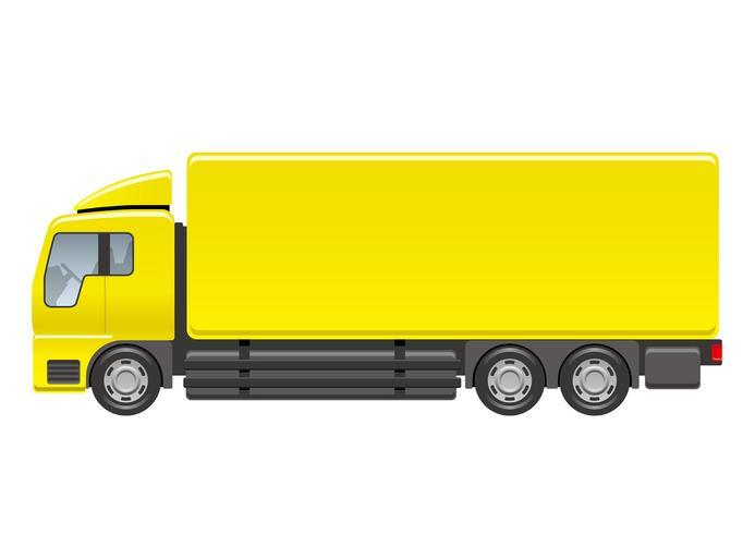 Tung lastbil illustration isolerad på en vit bakgrund.