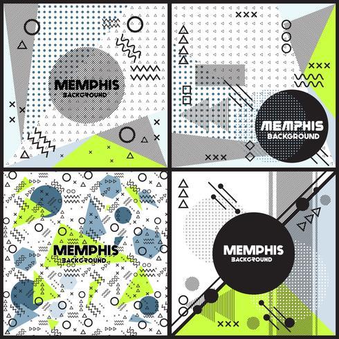 memphis background style Design Template vector