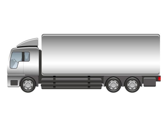 Schwere LKW-Illustration lokalisiert auf einem weißen Hintergrund.