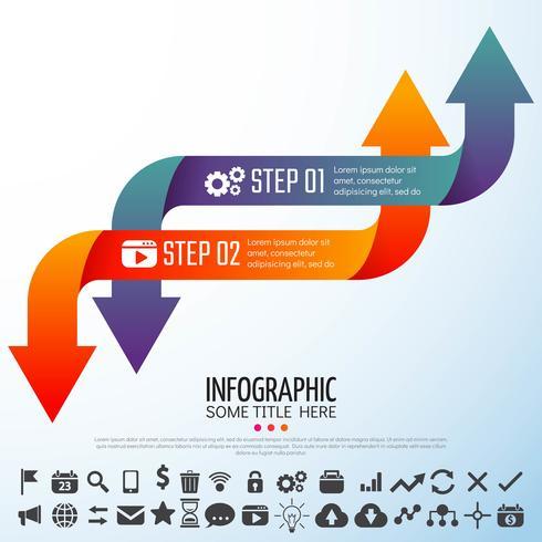 Flecha Infografía plantilla de diseño