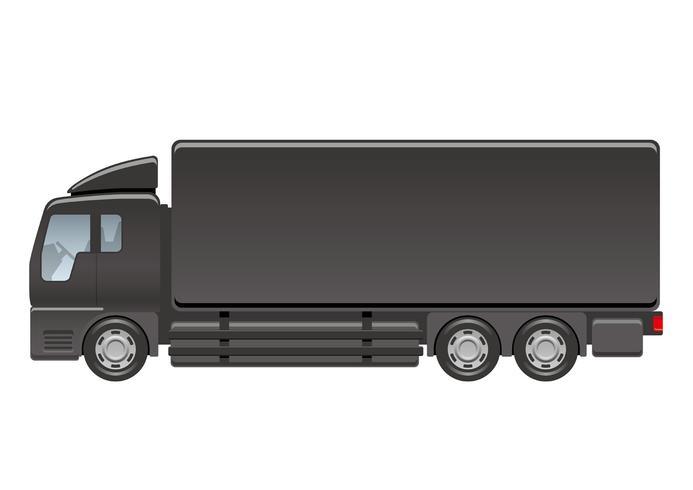 Ilustração do caminhão pesado isolada em um fundo branco.