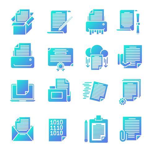 Document verloop pictogrammen instellen