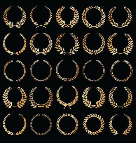 Etiquetas de lujo colección ilustración vectorial