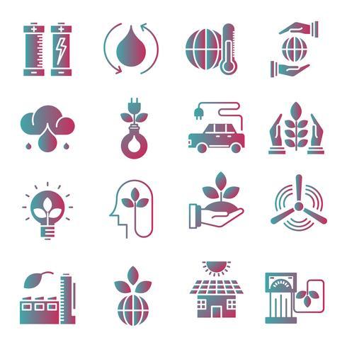 Ecología gradiente conjunto de iconos