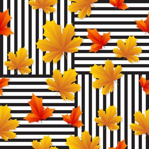 sömlösa löv mönster vektor bakgrund