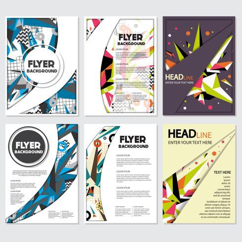 Modèle de conception d'arrière-plan de style Flyer Low Poly