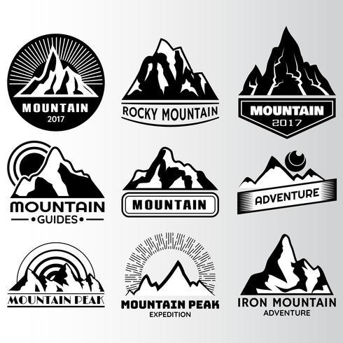 plantilla de diseño de montaña lable