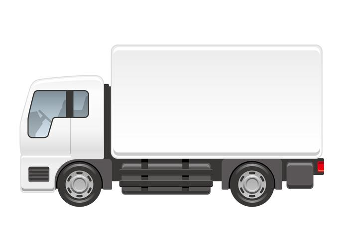 Truck illustration isolated on a white background.  vector