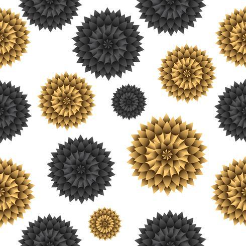 Nahtloser Blumenmuster Vektorhintergrund