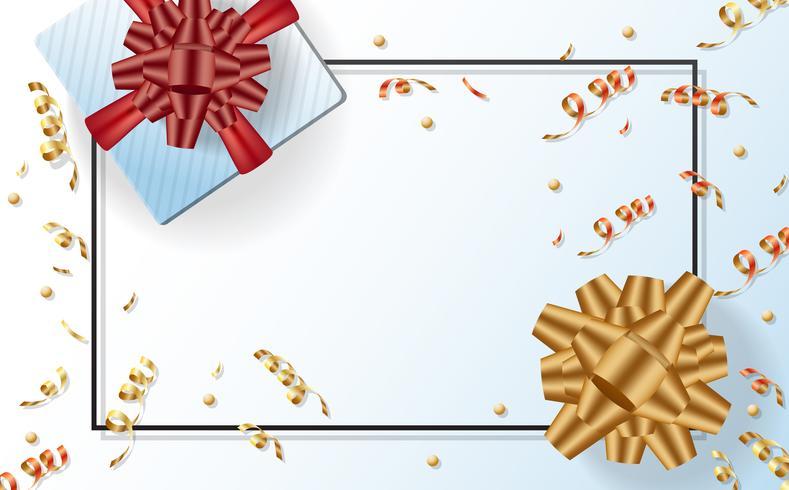 cadeau verkoop sjabloon banner Vector achtergrond