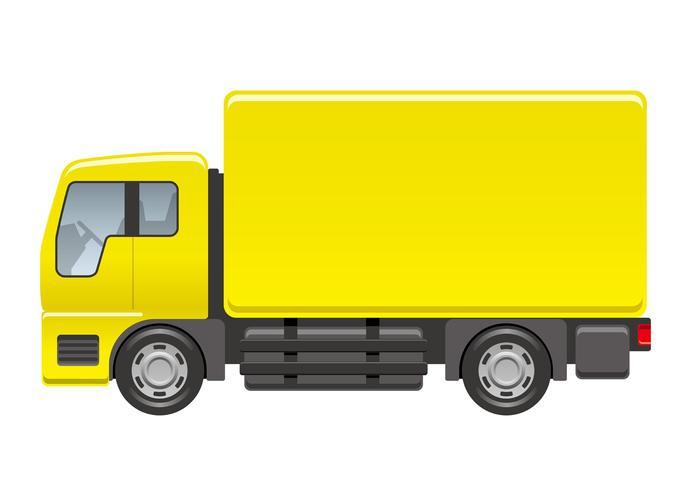 Vrachtwagenillustratie op een witte achtergrond wordt geïsoleerd die.