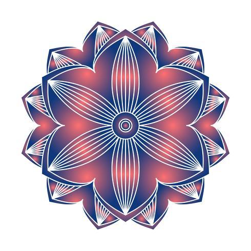 Imagem vetorial de ornamento de mandala