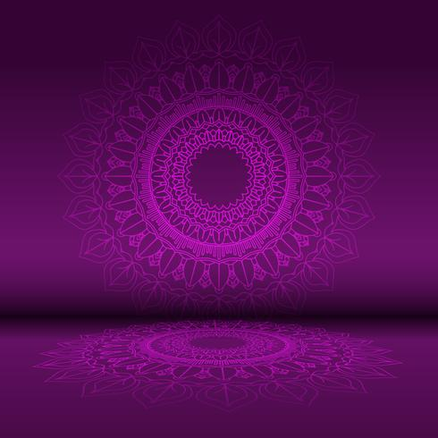 Abstract mandala design background  vector