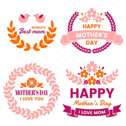 Mother Day Vector etikett för banner
