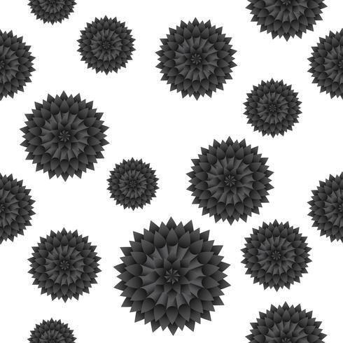 Motif de fleurs sans soudure Vector background