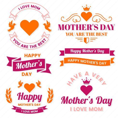 Mother Day Vector Label für Banner