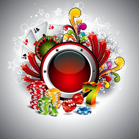 Vector illustration on a casino theme with space for your text and gambling elements
