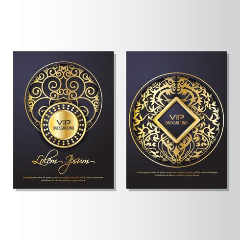 Modelo de Design de estilo de panfleto de fundo dourado