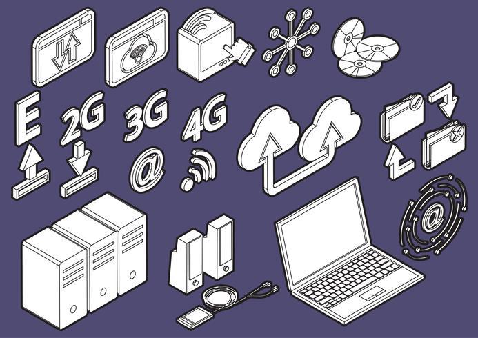 illustration du concept d'icônes infographie ordinateur graphique vecteur