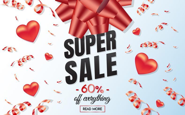 banner de modelo de venda de caixa de presente