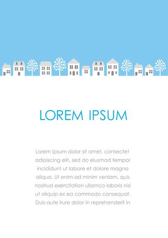 Vector townscape illustration with text space.