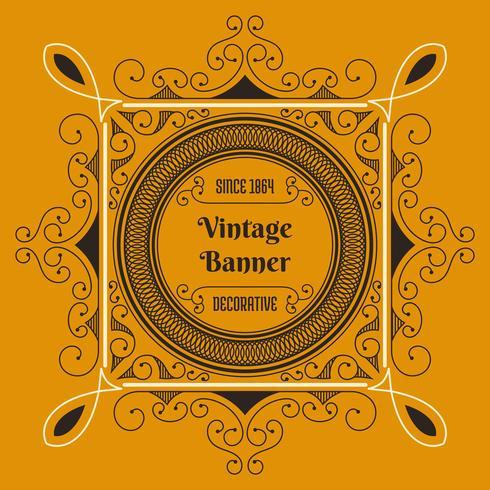 Vintage Flyer Hintergrund Designvorlage