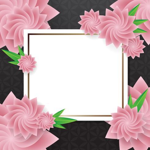 flor de fondo vector
