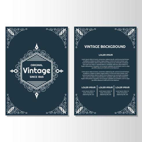 Modello di disegno di sfondo vintage flyer