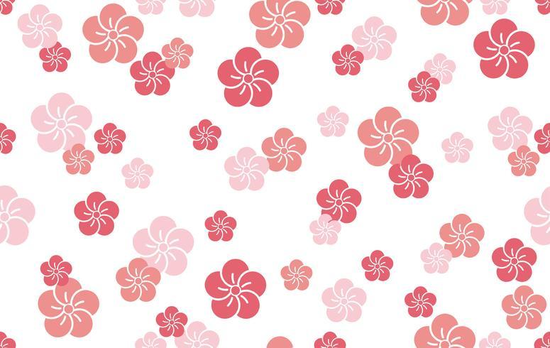 Modèle traditionnel japonais, illustration vectorielle continue.