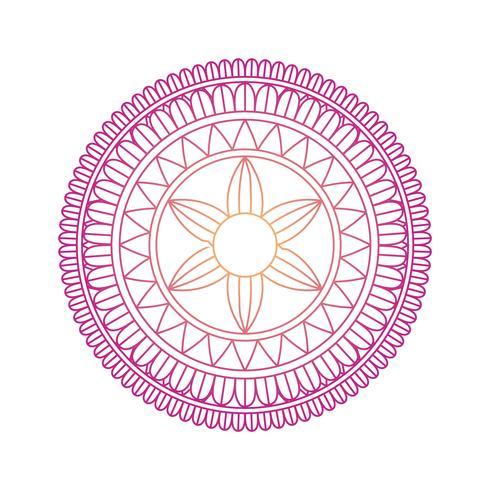 Mandala prydnad vektorgrafik