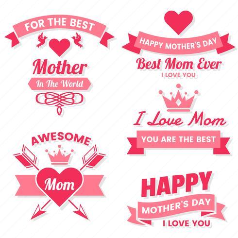 Étiquette de vecteur de fête des mères pour bannière