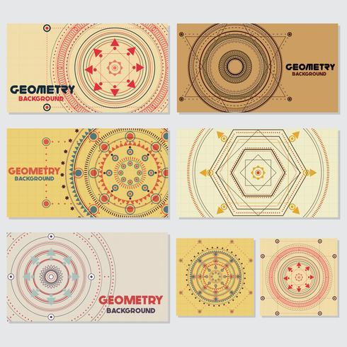 Géométrie rétro ancienne Style Vintage Modèle de conception