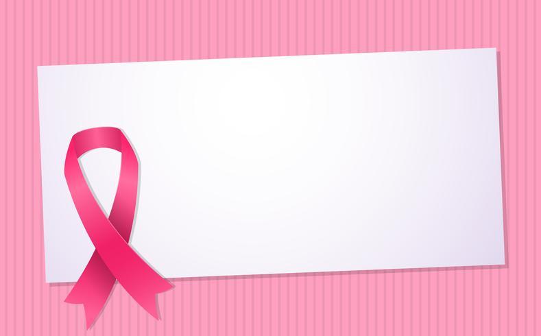 Brustkrebsbewusstsein Vektor Hintergrund