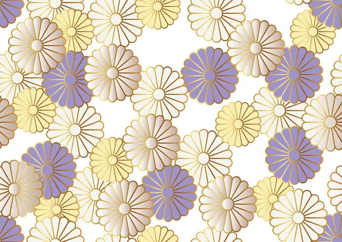 Motif de chrysanthème sans soudure dans le style traditionnel japonais.