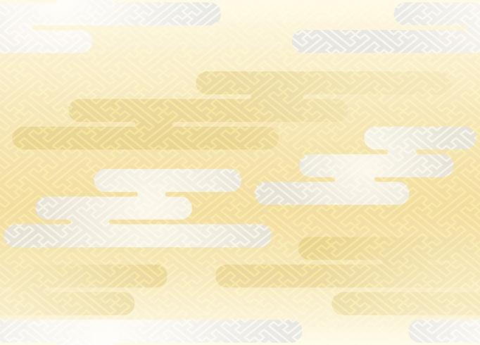Seamless clouds pattern in the Japanese traditional style