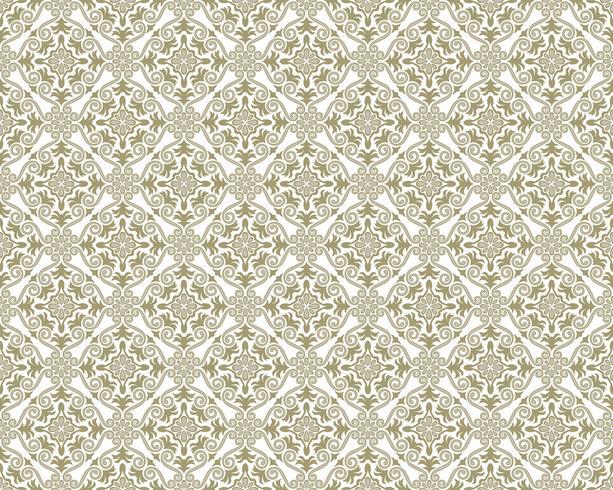 Damask vintage seamless patterns.