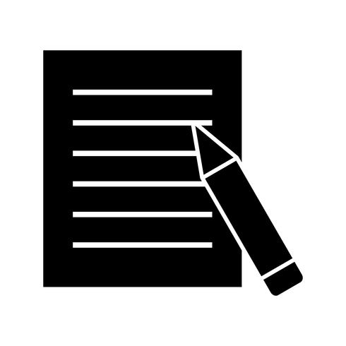 Homework glyph black icon