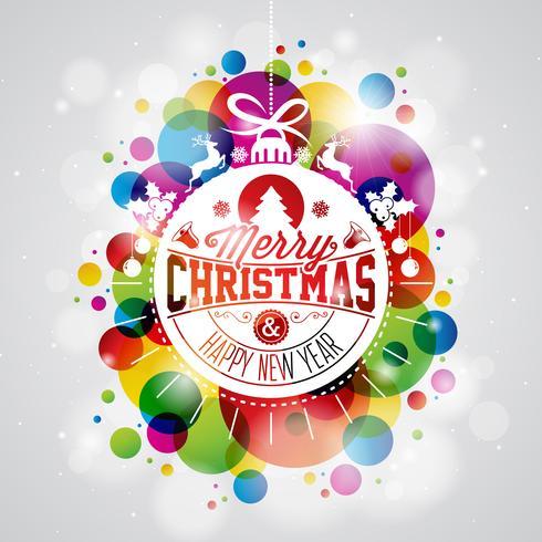Feliz natal, feriado, ilustração