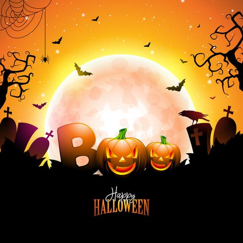 boo, glad halloween design