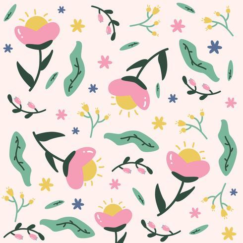 Cute Flower Background Vector
