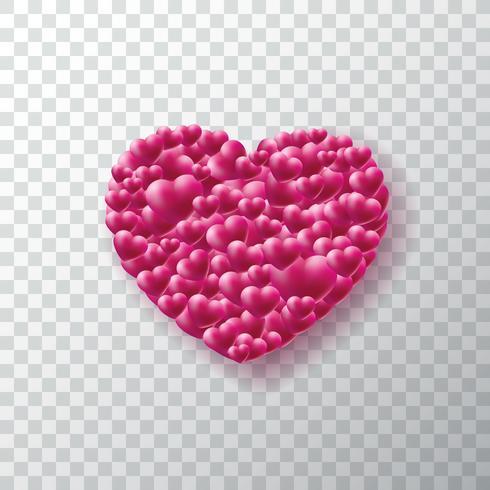 Valentijnsdag achtergrond met hart