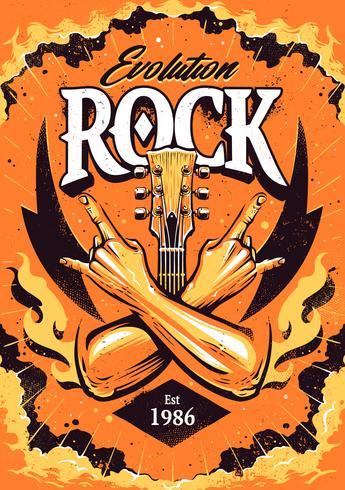 modello di design del manifesto rock