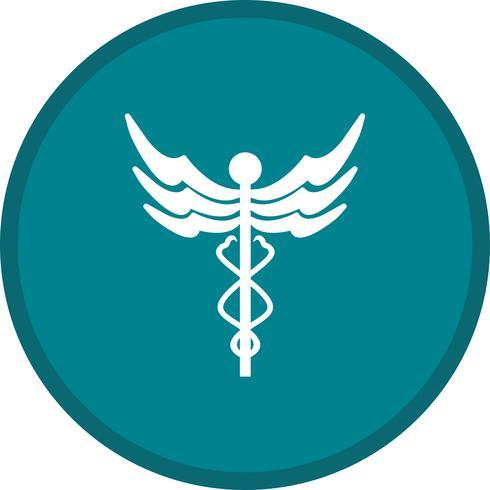 Caduceus gefülltes Symbol