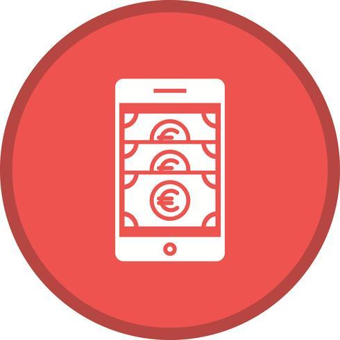 Mobiltelefon gefülltes Symbol