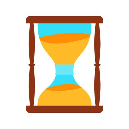 Zandloper platte multi kleur pictogram