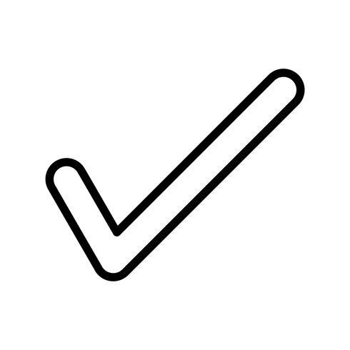 Tick line black icon